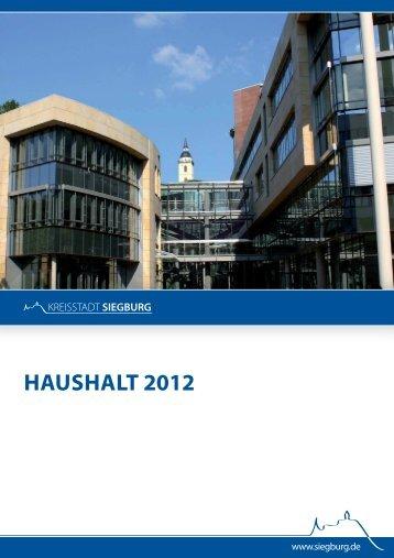 Haushaltsplan 2012 - Siegburg
