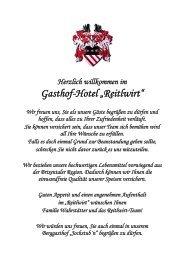 Vom Grill und aus der Pfanne Wiener Schnitzel vom ... - Hotel Reitlwirt