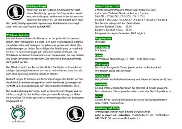 Flyer Gruppe Waldkauz 12-13 - natur & umwelt ob- nidwalden