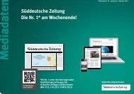Süddeutsche Zeitung Die Nr. 1* am Wochenende! - sz-media.de ...