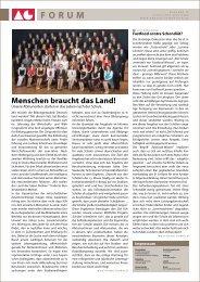 Menschen braucht das Land! - Arnold-Gymnasium Neustadt bei Coburg
