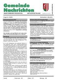 Ärzte-Bereitschaftsdienst - Marktgemeinde Reichenthal