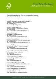 Waldpädagogische Einrichtungen in Hessen - FSC
