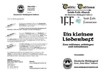 """Ein kleines Liederheft - """"kath. Pfarrheim St. Ulrich"""" in Haßloch"""