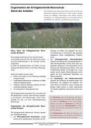 Organisation der Erfolgskontrolle Moorschutz Stand der ... - KBNL