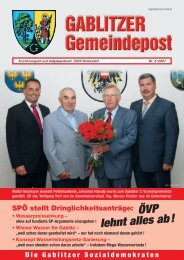 ÖVP lehnt alles ab! - SPÖ Gablitz
