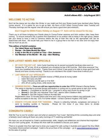 BUNCH RIDING ETIQUETTE - Activ Cycle Coaching