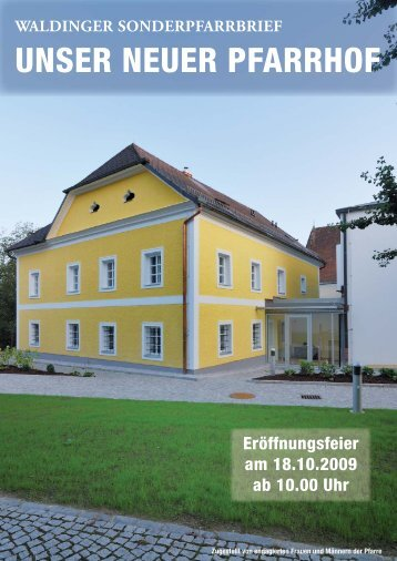 5. Pfarrbrief 2009 - Pfarre Walding - Diözese Linz