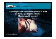 Grundlagen und Anwendungen der ICP-MS (Induktiv ... - AHL