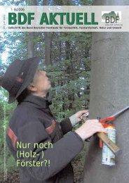 Ausgabe 07-08/2006 - Bund Deutscher Forstleute (BDF)