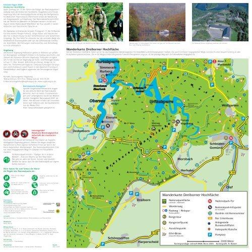 Nationalpark Eifel Karte.Wanderkarte Dreiborner Hochfläche Nationalpark Eifel