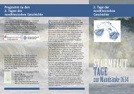 2. Tage der nordfriesischen Geschichte Programm zu ... - PresseBox