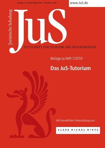 Das JuS-Tutorium - Verlag C. H. Beck oHG