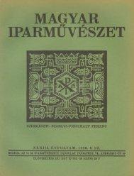 magyar iparművészet szerkeszti - EPA
