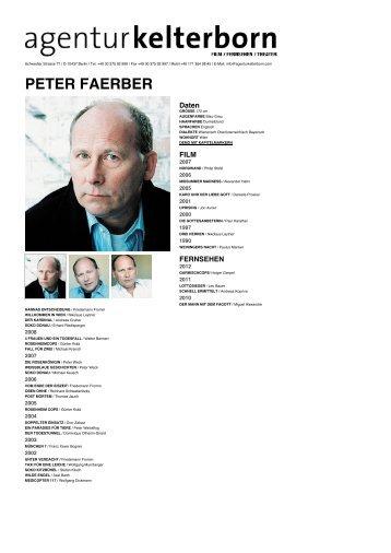 PETER FAERBER - Agentur Kelterborn