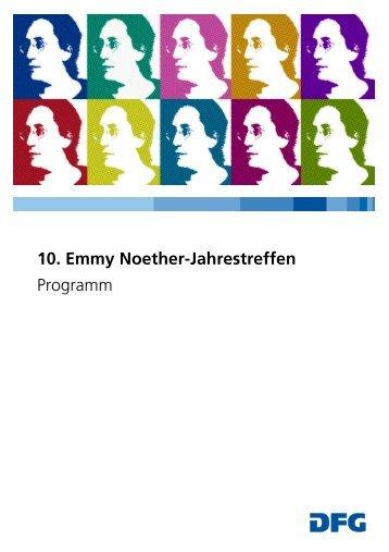 10. Emmy NoetherJJahrestreffen - DFG
