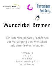 Einladung zum 13.09.2012 - Initiative Chronische Wunden eV