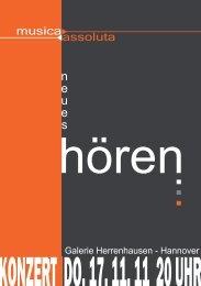 Galerie Herrenhausen - Hannover - musica assoluta