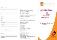 Meisterkurs für Oboe, Klarinette und Fagott - Phil.-So. - Universität ...