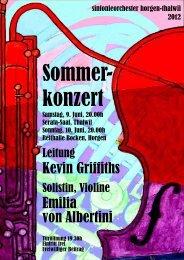 Programm Sommerkonzert 2012 - sinfonieorchester horgen-thalwil