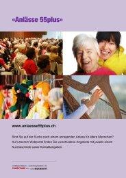 «Anlässe 55plus» - Caritas Zürich
