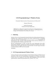 GUI-Programmierung 1 - Software and Systems Engineering