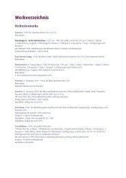 Werkverzeichnis chronologisch - Ursula Mamlok