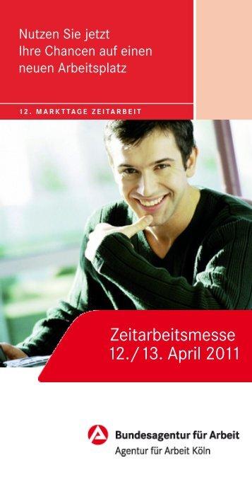 Flyer flexibel DIN lang 6 Seiten - Kölner Markttage Zeitarbeit