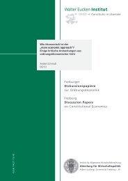 """more economic approach""? - Walter Eucken Institut"