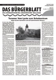 SUPERSCHÄTZCHEN gesucht - Bürgerverein Oberwiehre-Waldsee