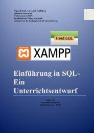 Einführung in SQL- Ein Unterrichtsentwurf - Informatik - Universität ...