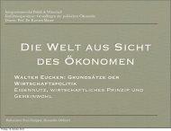 Walter Eucken: Grundsätze der Wirtschaftspolitik ... - Karsten Mause
