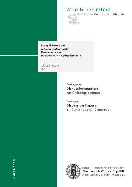 Europäisierung der nationalen Zivilrechte - Walter Eucken Institut