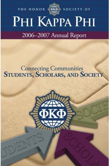06-07 Annual Report.indd - Phi Kappa Phi