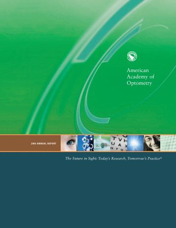2006 Annual Report - American Academy of Optometry