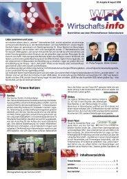 Inhaltsverzeichnis Firmen-Notizen - Kaiserslautern