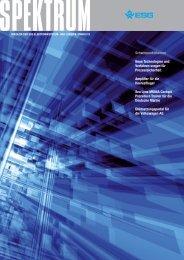 Schwerpunktthemen Neue Technologien und Verfahren ... - ESG