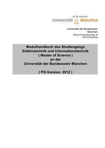Modulhandbuch des Studiengangs Elektrotechnik und ... - UniBwM