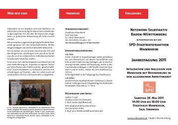 Netzwerk Selbstaktiv Baden-Württemberg - Die SPD in Villingen ...