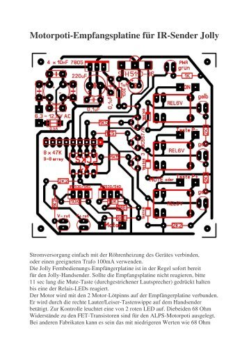 Motorpoti-Empfangsplatine für IR-Sender Jolly - Walter Elektronik
