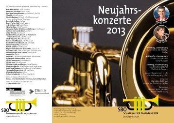 2013 Neujahrs- konzerte - Schaffhauser Blasorchester