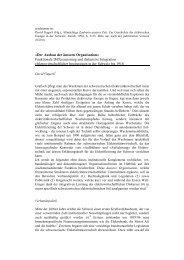 Der Ausbau der äussern Organisation - ETH Technikgeschichte ...