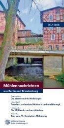 Mühlennachrichten - Mühlenvereinigung Berlin-Brandenburg