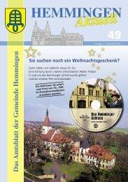 Neuer Fahrplan - Gemeinde Hemmingen