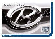 Garantie- und Serviceheft - Hyundai