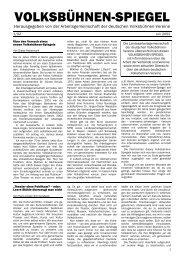 Volksbühnen-Spiegel 1/2002 - Freie Volksbühne Berlin