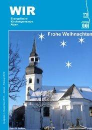 WIR Frohe Weihnachten - Evangelische Kirchengemeinde Alpen