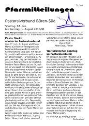 Pfarrmitteilungen - St. Nikolaus Büren