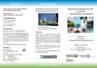 Wassermanagement der Zukunft - nachhaltige Strategien