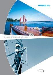 GESCHÄFTSBERICHT 2006 - WEMAG AG - Homepage